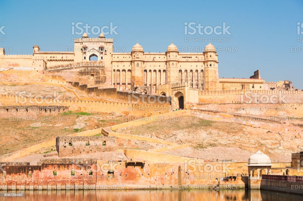 Amber Fort near Jaipur, Rajasthan, India stock photo