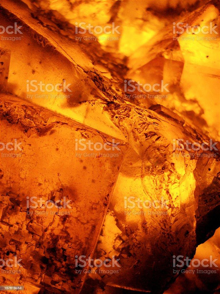 Amber Gemstone Close Up stock photo