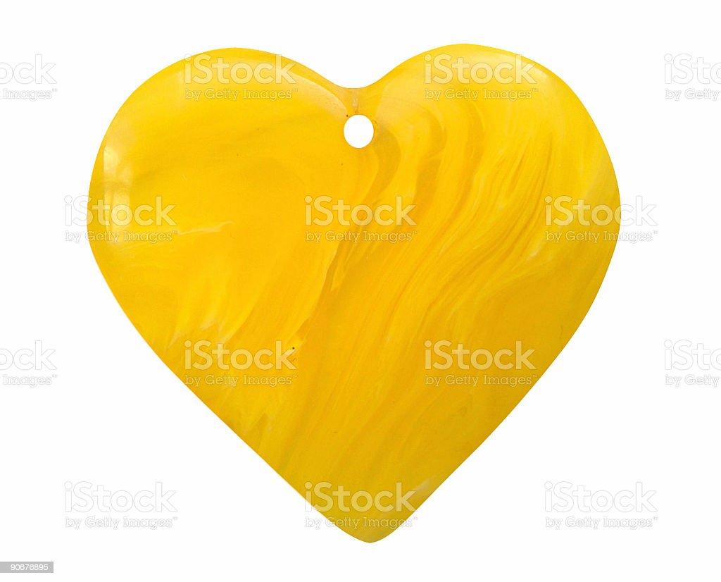 Amber Heart royalty-free stock photo