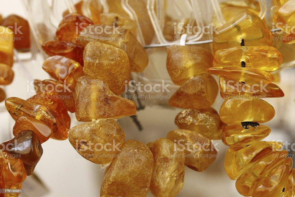 Amber jewelry macro shot royalty-free stock photo