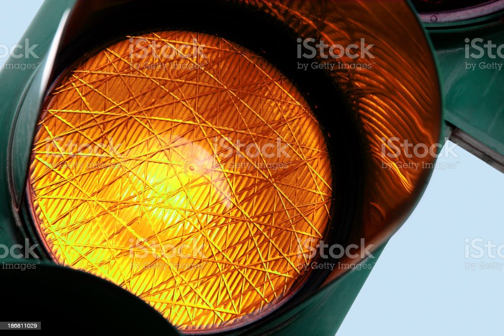 Amber light royalty-free stock photo