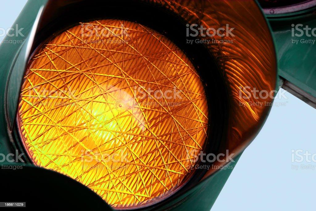 Amber light stock photo