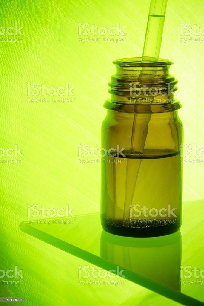 Amber medecine bottle stock photo