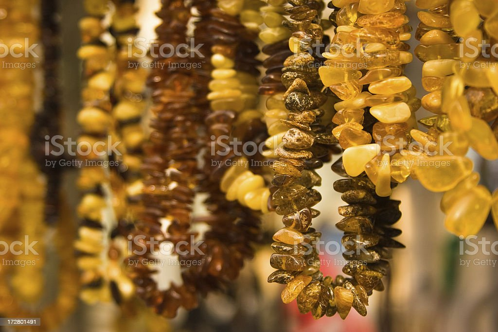 Amber necklace royalty-free stock photo