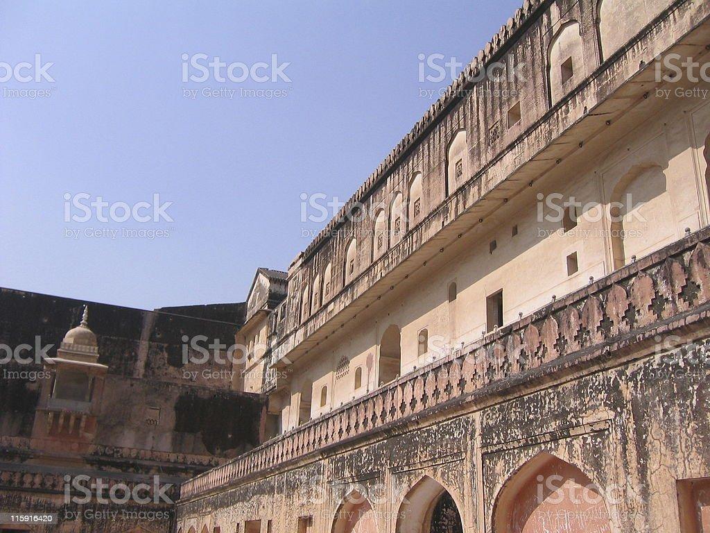 Amber Palace - Inner Courtyard, Balconies, Windows, Corridors royalty-free stock photo