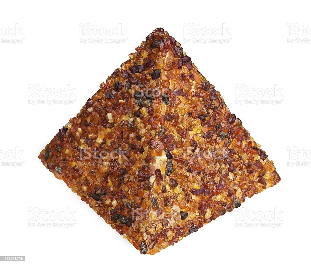 Amber pyramid on the white background royalty-free stock photo