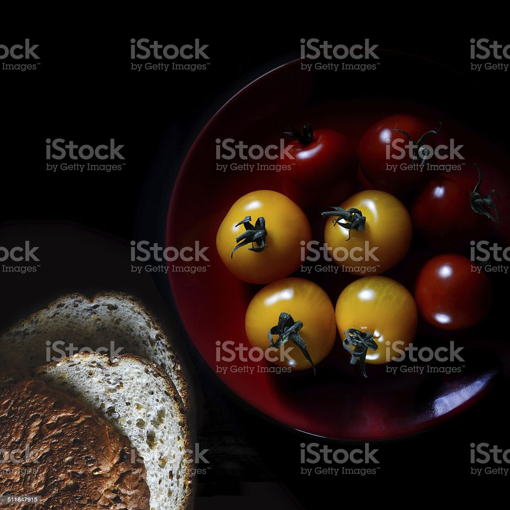 Amber & Rosso Tomatoes stock photo