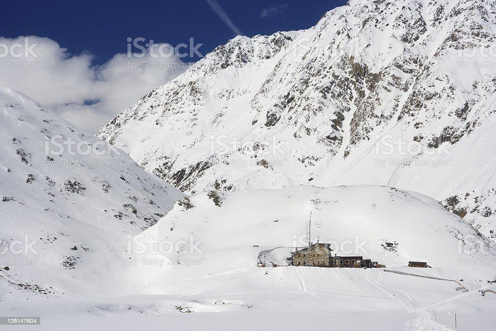 Amberger Hütte, Austria stock photo