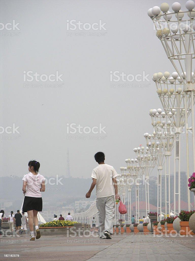 Ambience of China street life stock photo