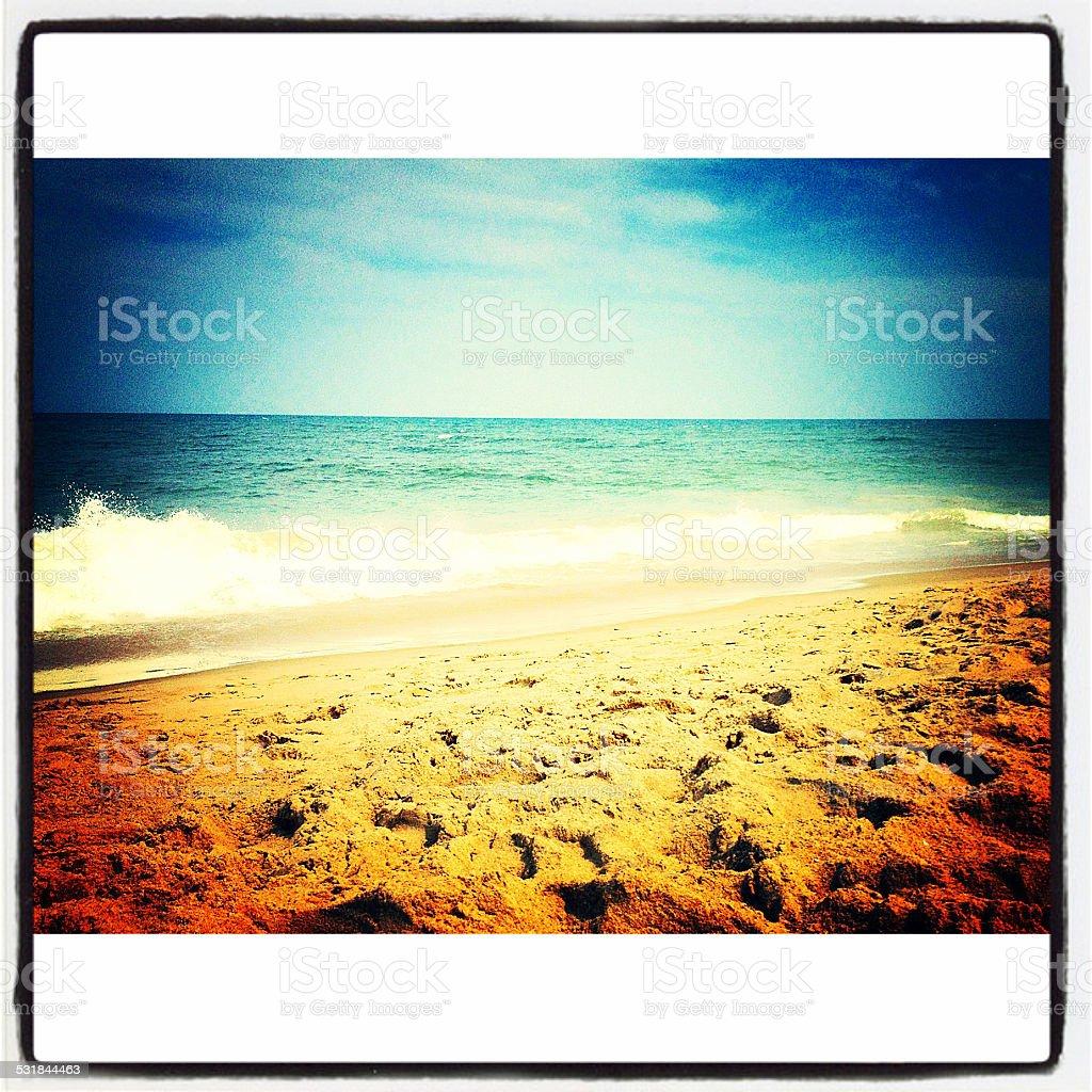 Ambient Beach Scene stock photo