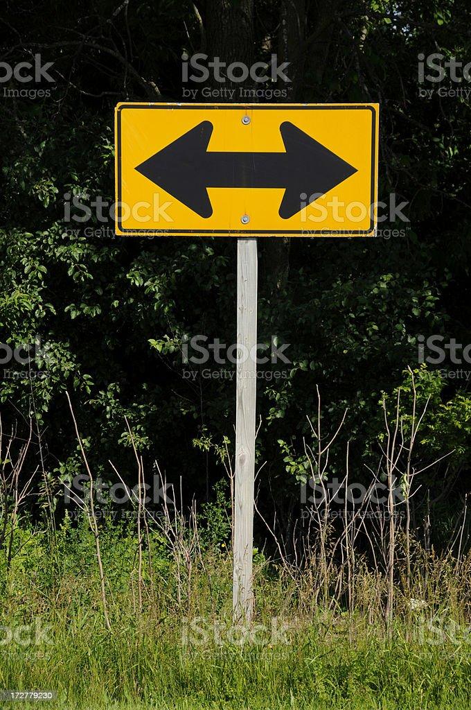 Ambiguous Sign royalty-free stock photo