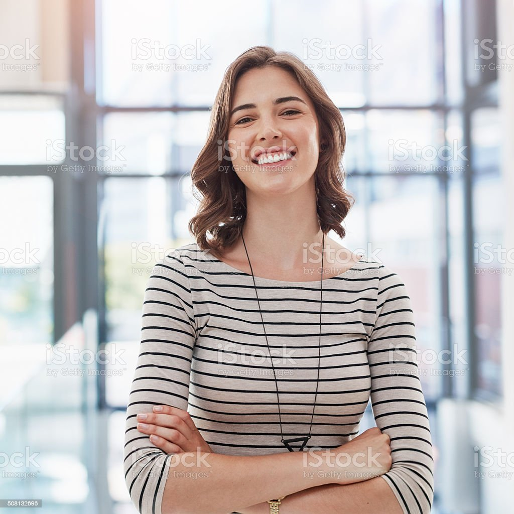 Ambition, positivity and confidence...she's got it all stock photo