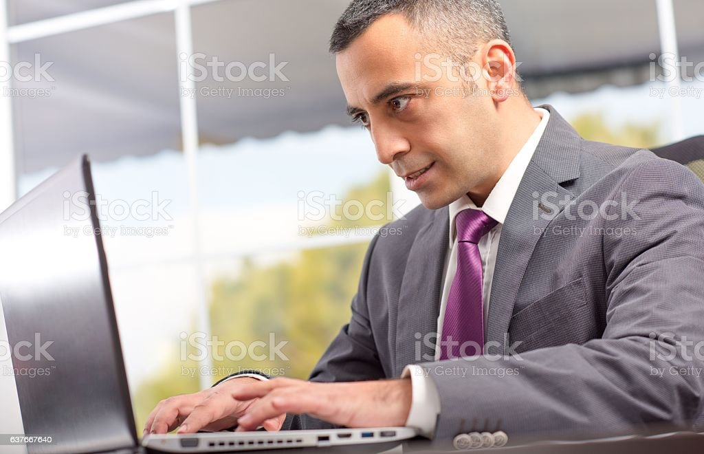 Ambitious Young Businessman stock photo