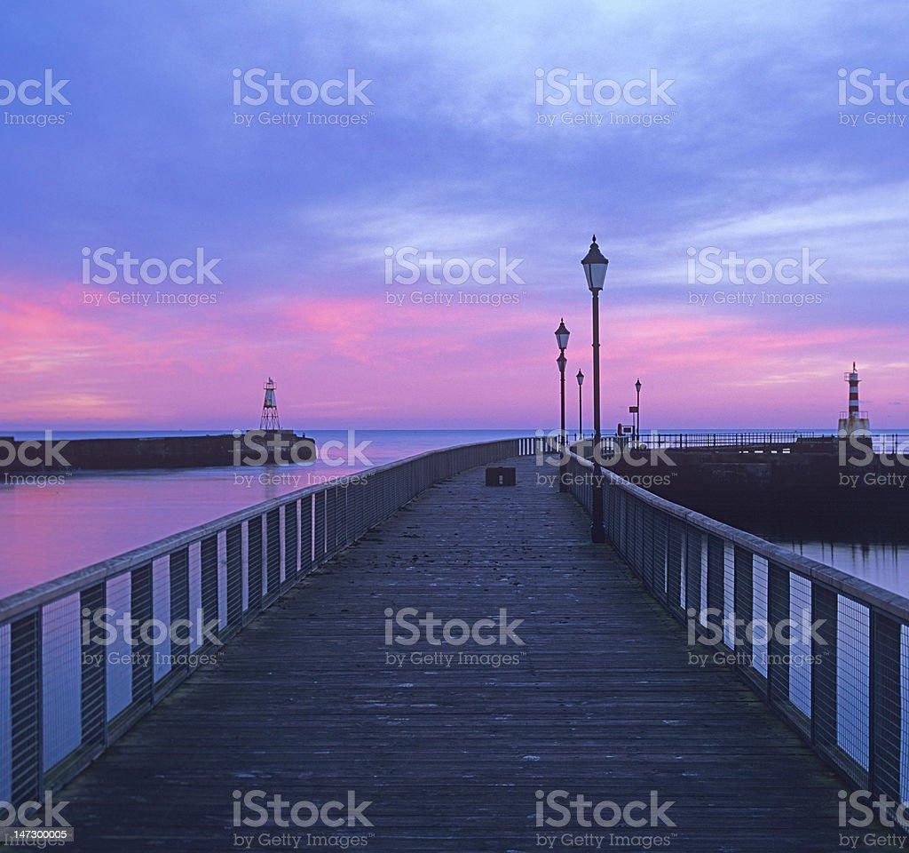 Amble pier at dawn royalty-free stock photo