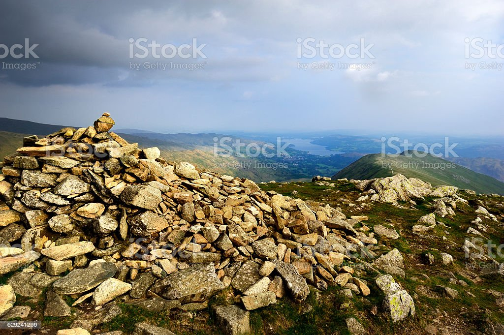 Ambleside and Windermere stock photo