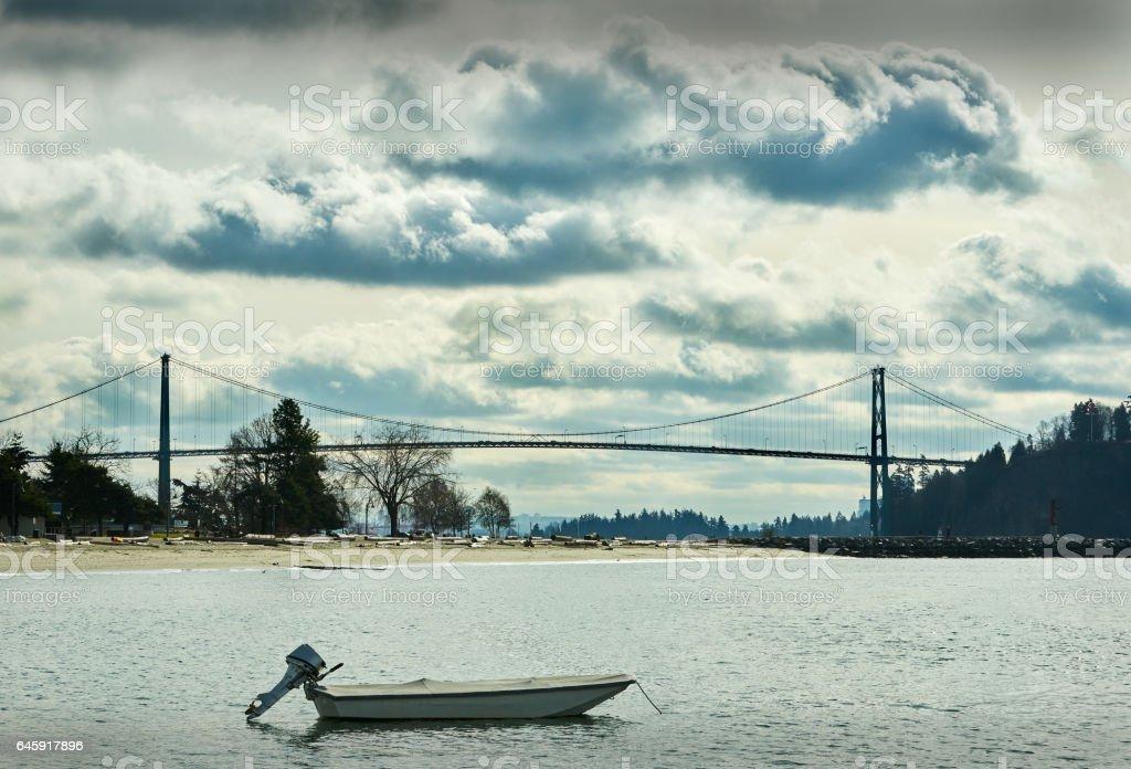 Ambleside Beach, West Vancouver stock photo