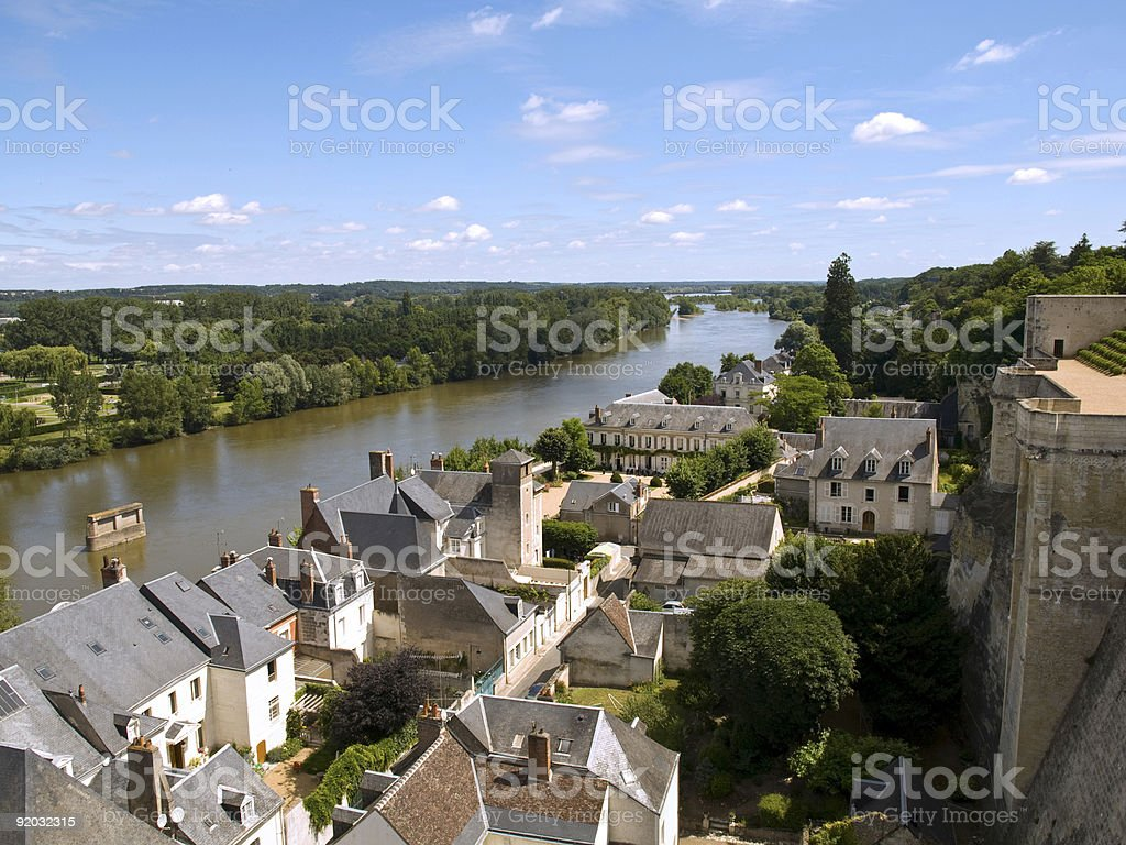 Amboise and Loire stock photo