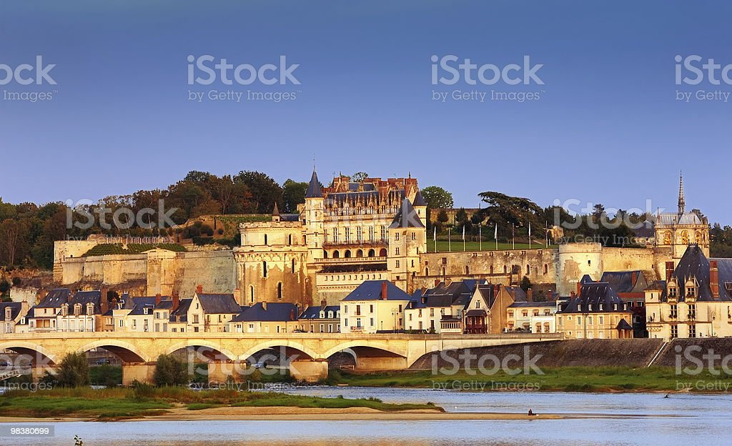 Amboise at sunset stock photo