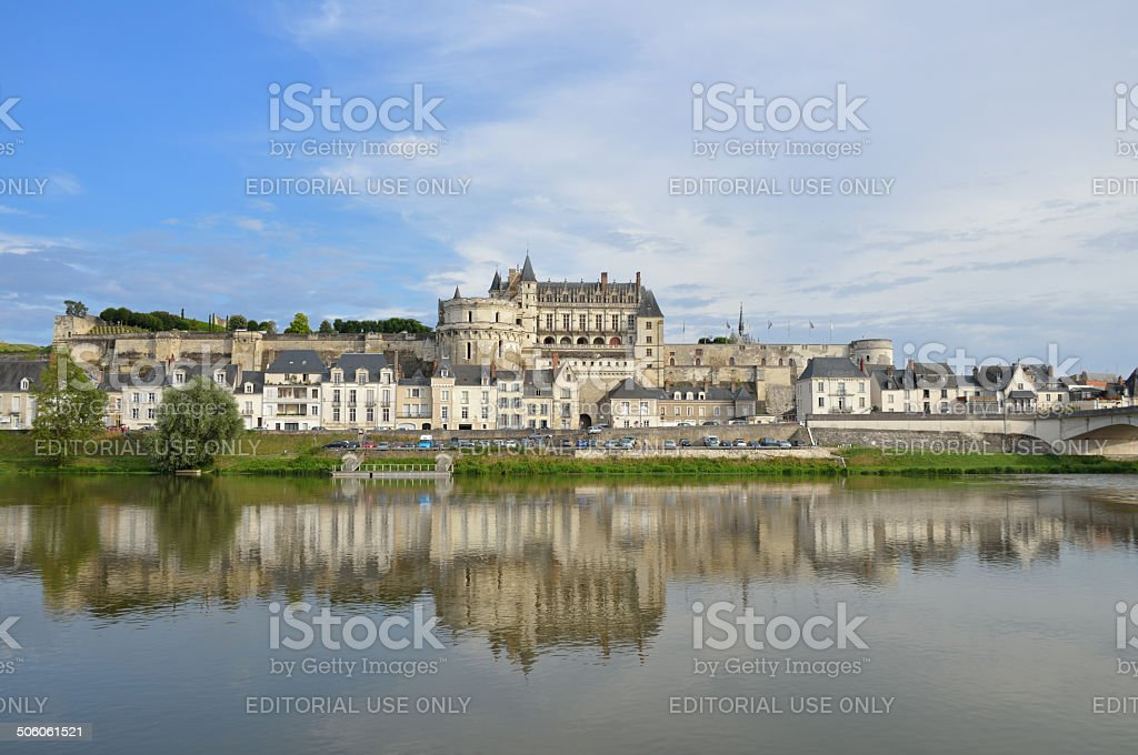 Amboise Castle stock photo