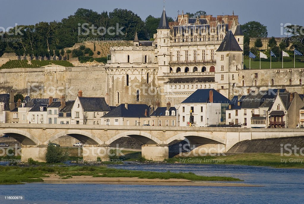 Amboise City, France stock photo