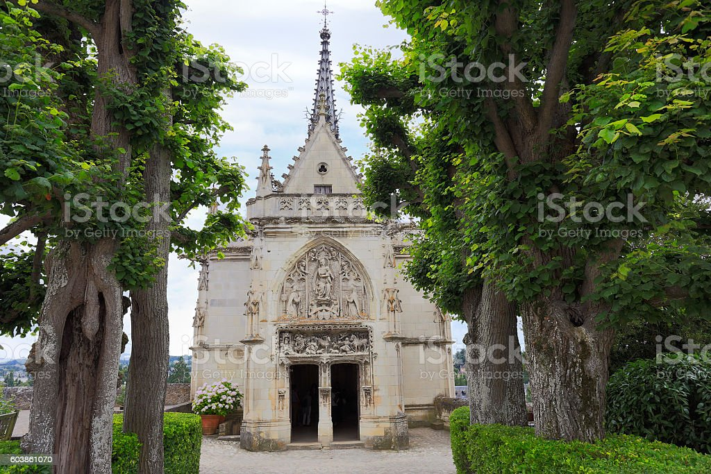 Amboise, Leonardo Da Vinci chapel in  Loire Valley stock photo