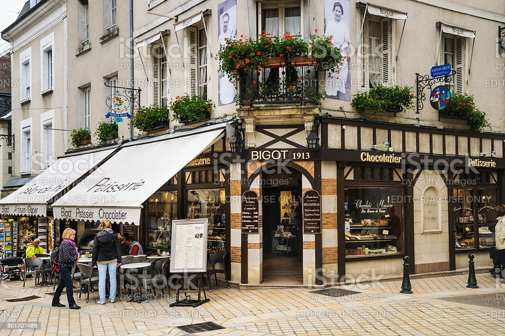 Amboise Pastry Shop stock photo