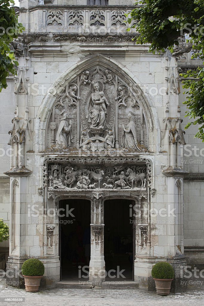 Amboise - the Chapel of Saint-Hubert stock photo