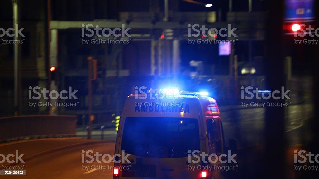 Ambulance background stock photo