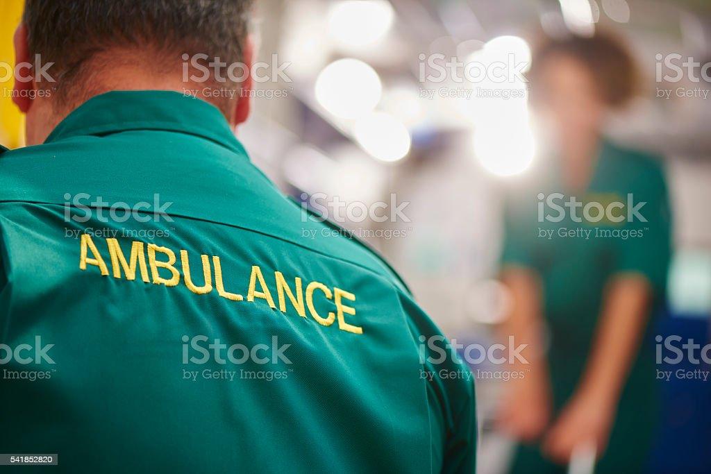 ambulance crew stock photo