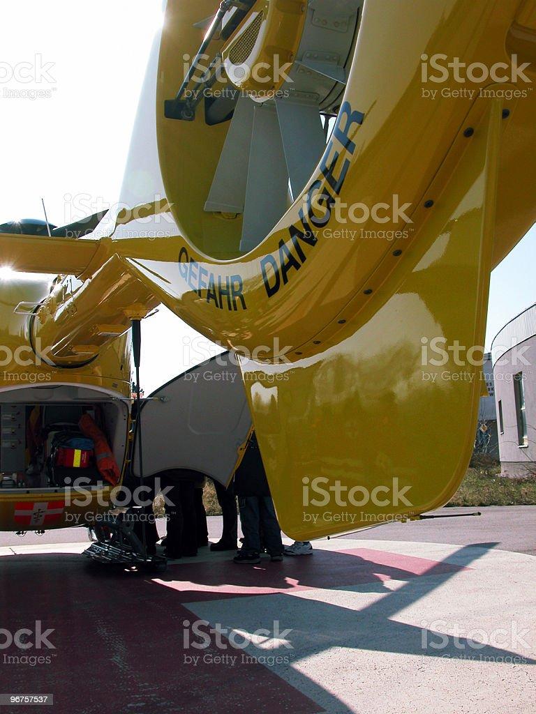 Ambulance Helicopter stock photo