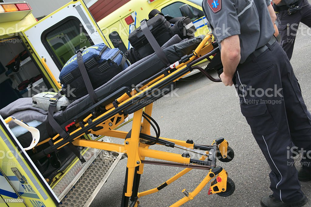 Ambulance Job - Accident Place royalty-free stock photo
