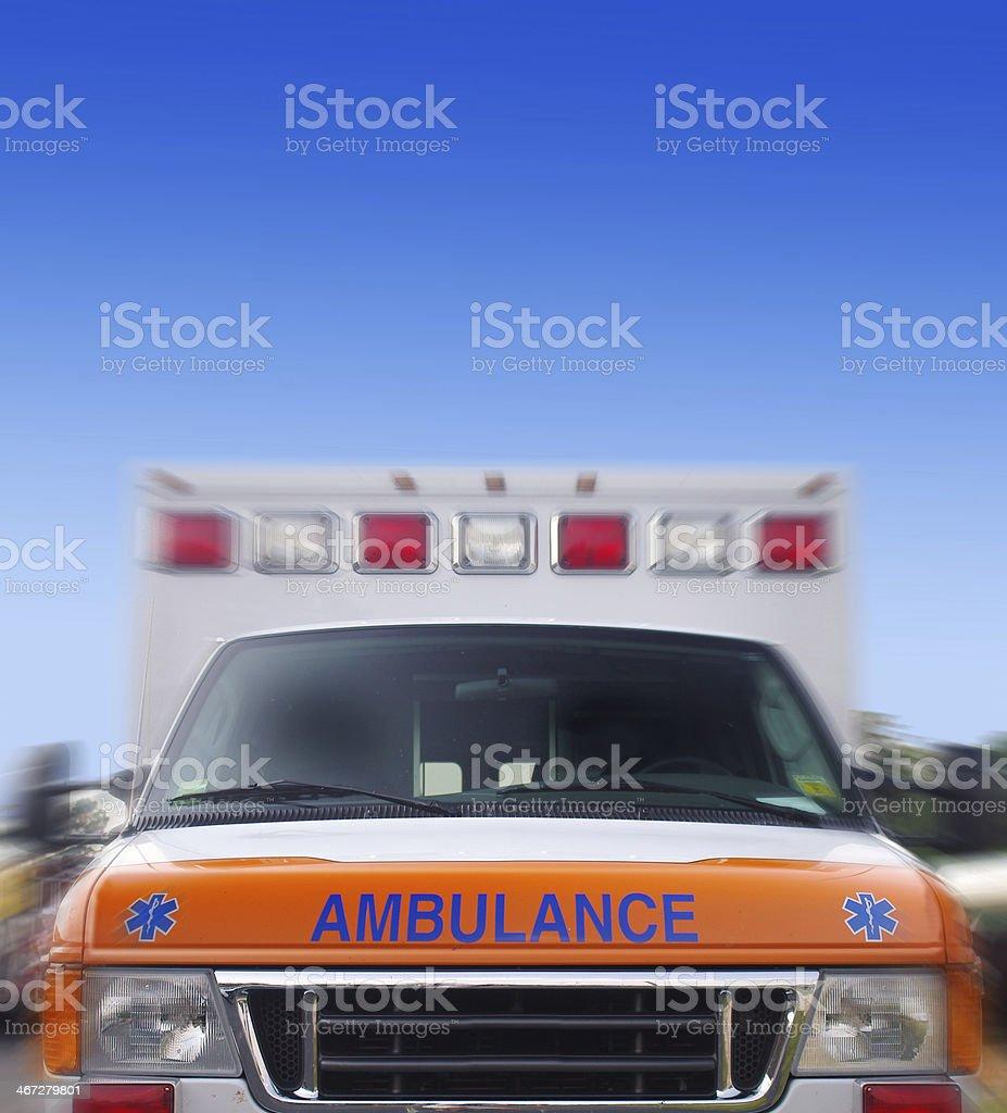 ambulance motion stock photo
