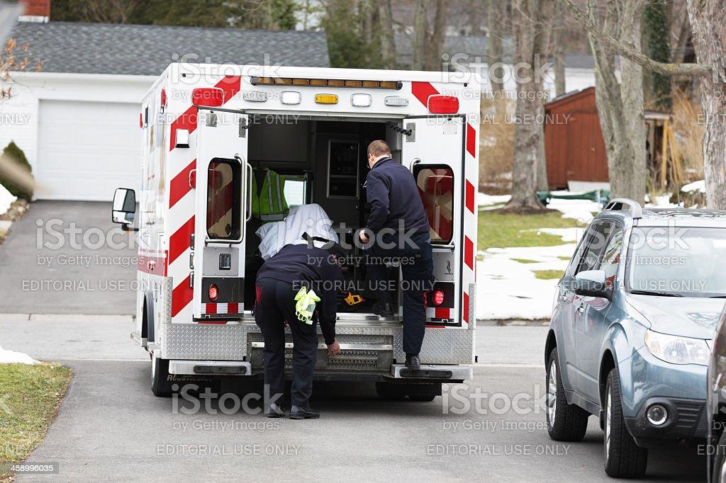Ambulance Ready to Roll stock photo