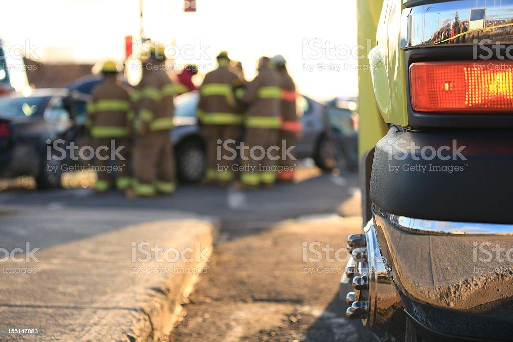 Ambulance Road Accident royalty-free stock photo