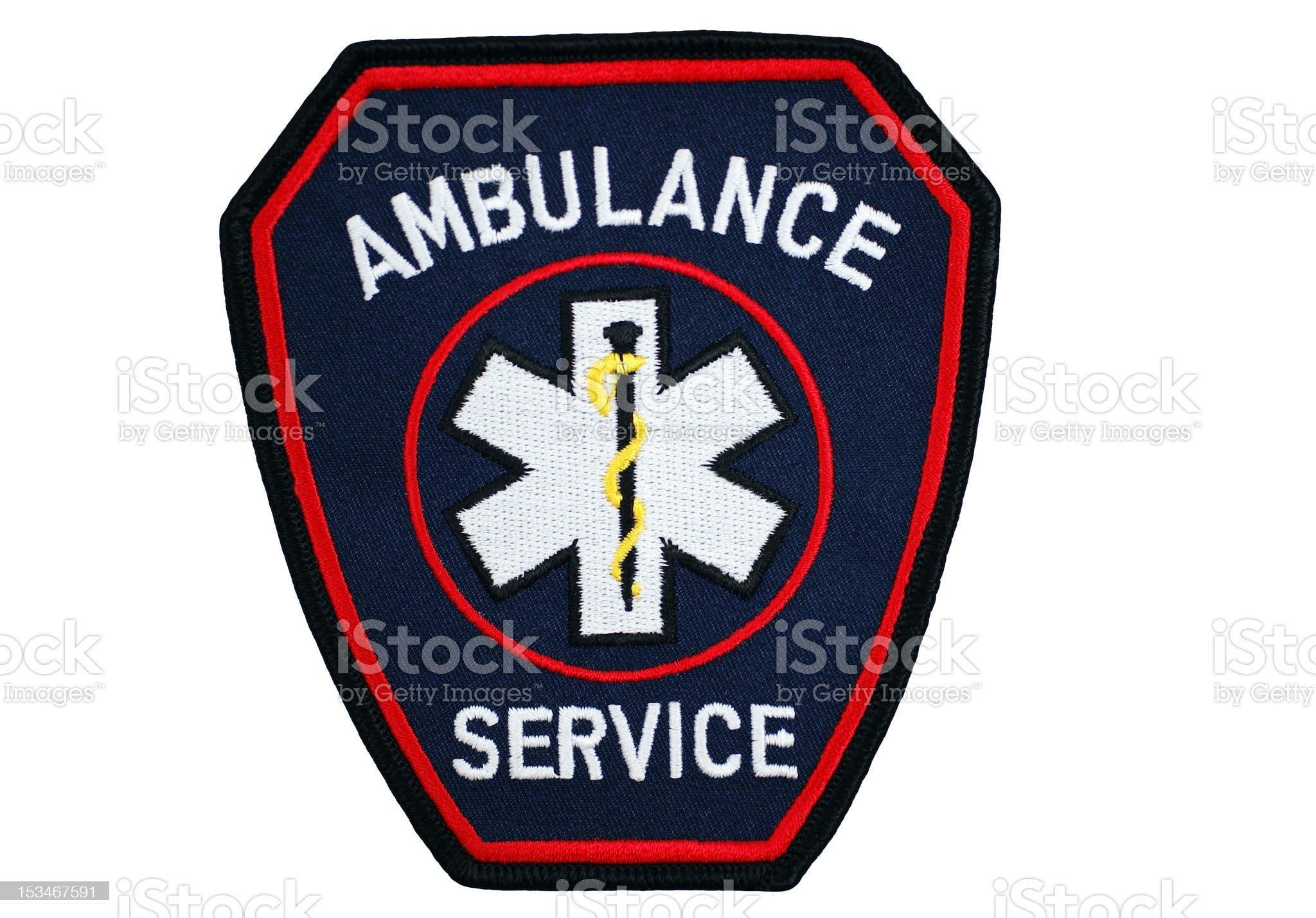 Ambulance Service Patch royalty-free stock photo
