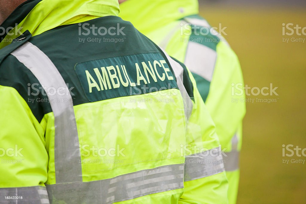 Ambulance Staff in Attendance stock photo