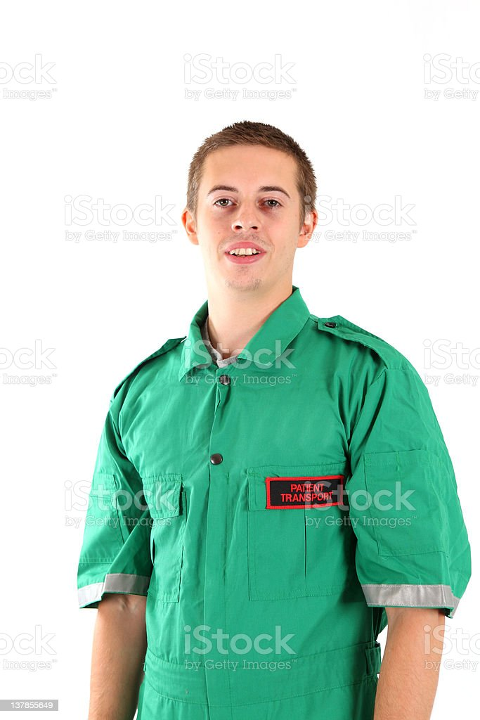 Ambulance staff royalty-free stock photo
