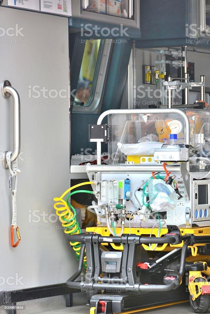 Ambulance Stretcher stock photo