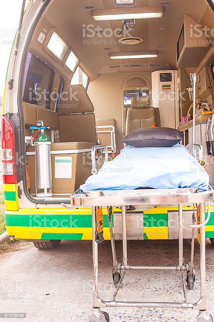 ambulance use for emergency patient stock photo