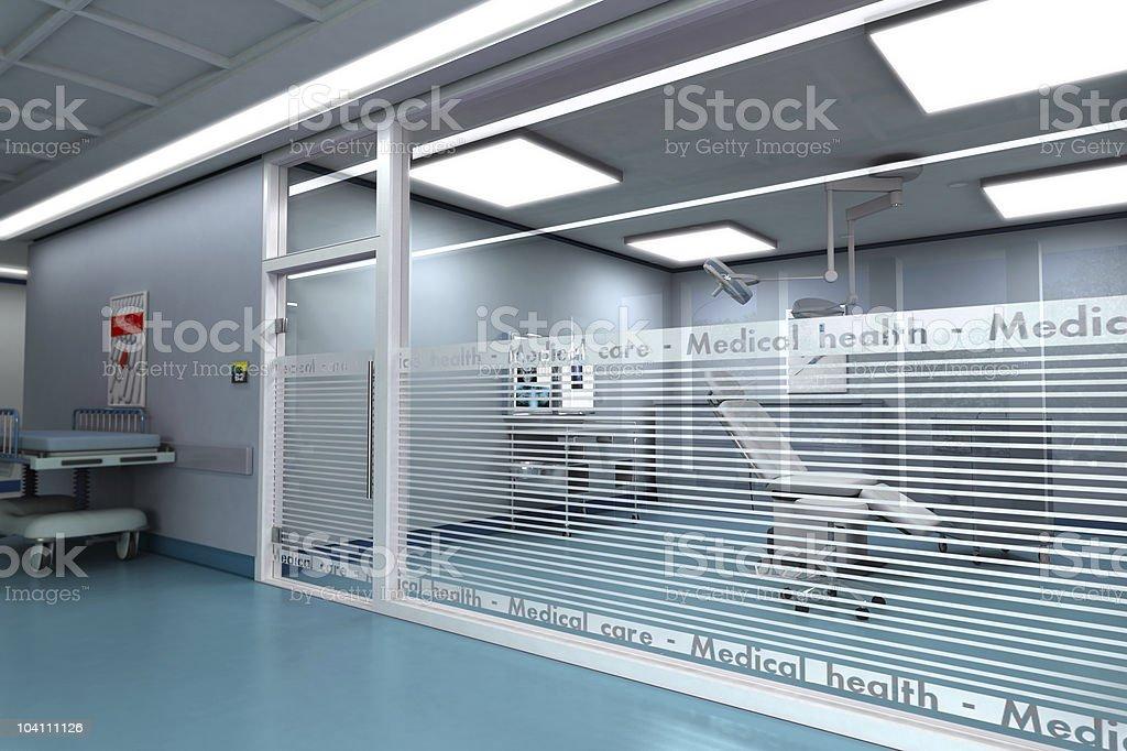 Ambulatory operating room royalty-free stock photo