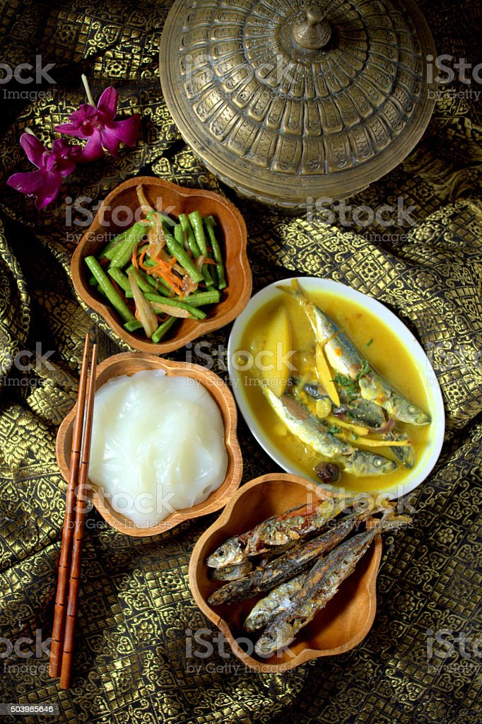 Ambuyat - Brunei National Cuisine stock photo