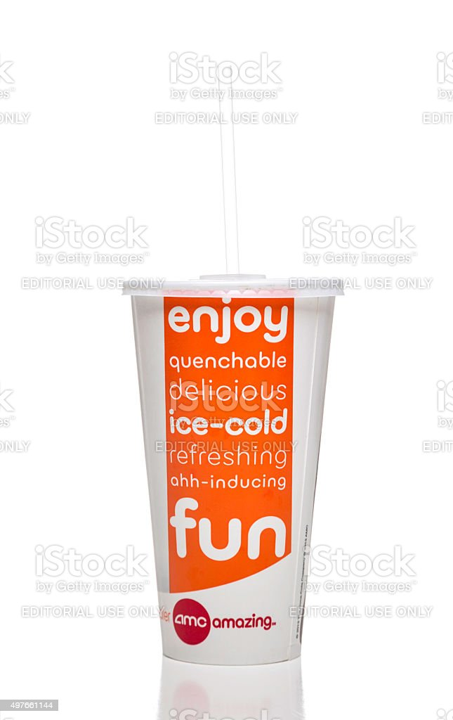 Amc theatres soda paper cup stock photo