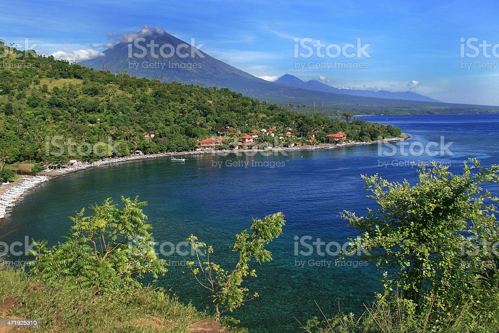 Amed in Bali stock photo