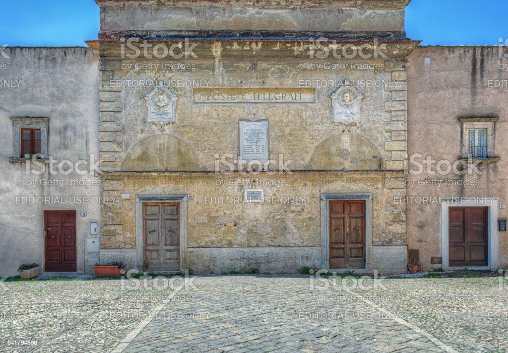 Amelia Umbria Italy Old Post Telegraph Office stock photo