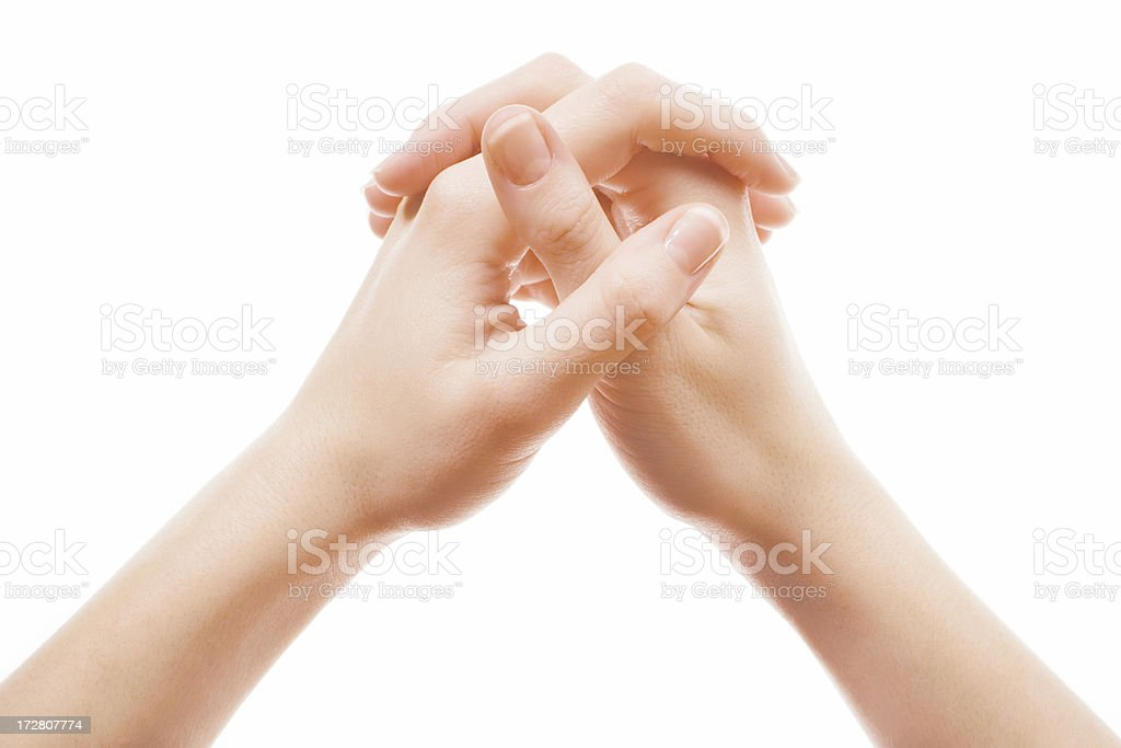 amen gesture royalty-free stock photo