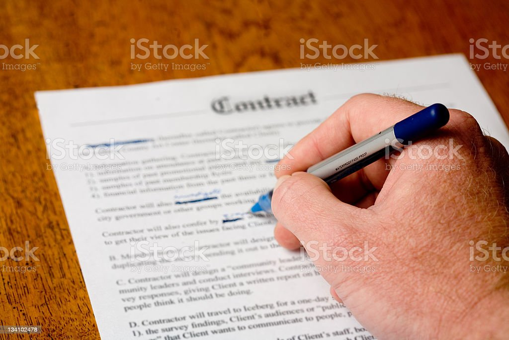 Amending a contract stock photo