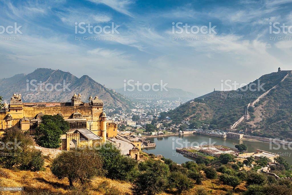 Amer aka Amber fort, Rajasthan, India stock photo
