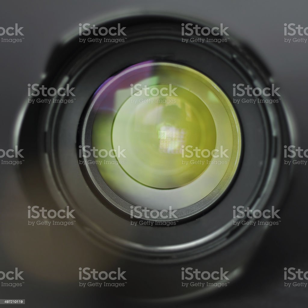 ?amera lens with colored lenses stock photo