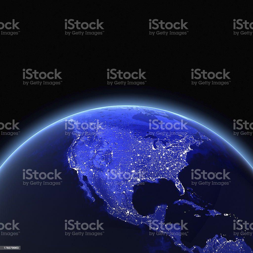 America 3d render stock photo