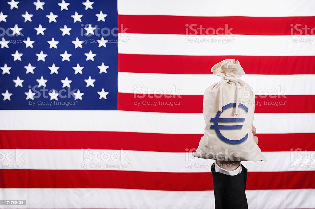 America and the Euro royalty-free stock photo